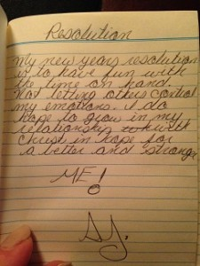 old journal page
